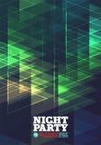 Nattpartivektor vektor illustrationer