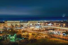 nattpetersburg st Arkivfoton