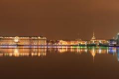 nattpetersburg st Fotografering för Bildbyråer
