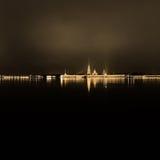 nattpetersburg st Arkivfoto