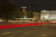 nattpetersburg st Royaltyfri Foto