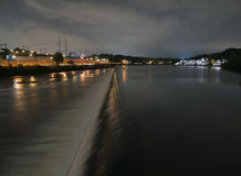 nattphiladelphia waterworks Arkivfoton