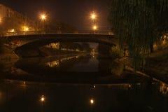 Nattplanskild korsning Royaltyfri Foto