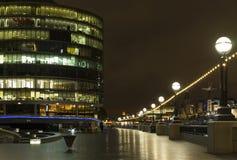Nattplats av den London staden Royaltyfria Bilder