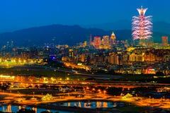 Nattplats av den Taipei staden arkivfoton