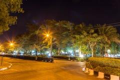 Nattplats av en viktig trädgård på Mayfair Royaltyfri Fotografi