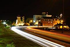 Nattplats av Fredericton Royaltyfri Bild
