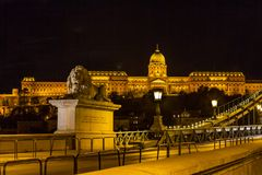 Nattplats av Royal Palace Fotografering för Bildbyråer