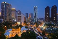 Nattplats av Taichung, Taiwan Royaltyfri Bild