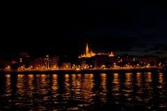 Nattplats in, Budapest Ungern Royaltyfria Foton