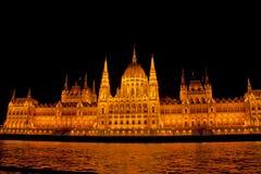Nattplats in, Budapest Ungern Fotografering för Bildbyråer