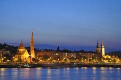 nattplats för 3 budapest Royaltyfri Fotografi