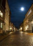 Nattplats från Odense royaltyfri fotografi