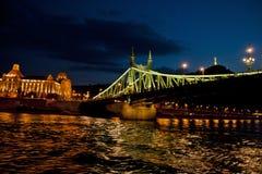Nattplats i Budapest, Ungern Arkivfoton