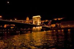 Nattplats i Budapest, Ungern Arkivbild