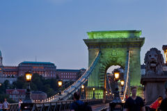 Nattplats i Budapest, Ungern Fotografering för Bildbyråer