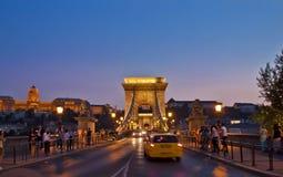 Nattplats i Budapest, Ungern Royaltyfri Fotografi