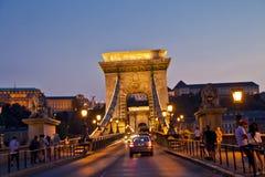 Nattplats i Budapest, Ungern Royaltyfria Foton