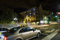 Nattplats i Dublin City Centre Royaltyfri Fotografi