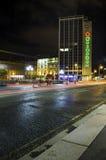 Nattplats i Dublin City Centre Royaltyfri Bild