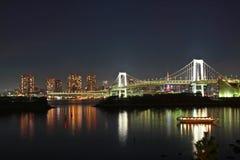 Nattplats i Tokyo Arkivbild
