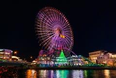 Nattplats i Yokohama Arkivfoton