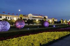 Nattplatsen av det nationella museet Royaltyfri Fotografi