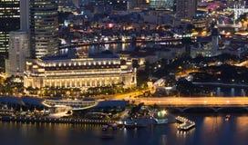 Nattplatser av Singapore Royaltyfri Foto