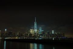 Nattplatser av WTC Arkivbild