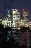 nattplatshorisont Arkivfoto