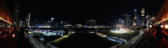 NattplatsSingapore kommersiell mitt 02 royaltyfri foto
