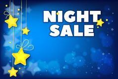 NattSale mall för annonsering för speciala erbjudanden royaltyfri foto
