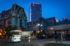 Nattsikt Atlantic City arkivfoto