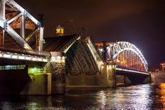 Nattsikt av bron Royaltyfria Bilder