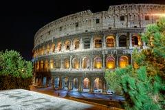 Nattsikt av Colosseo Royaltyfri Bild