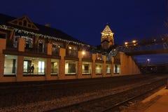 Nattsikt av den Lafayette stationen Arkivbild
