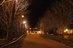 Nattsikt av den Lafayette stationen Fotografering för Bildbyråer