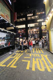 Nattsikt av den Seoul Myeongdong gatan Fotografering för Bildbyråer