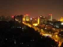 Nattsikt av den västra Peking Royaltyfri Fotografi