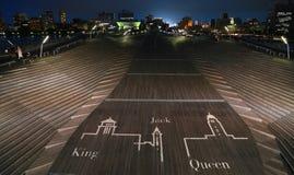 Nattsikt av den Yokohama portterminalen Royaltyfria Bilder