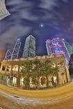 Nattsikt av Hong Kong Legislative Council Building Royaltyfri Fotografi