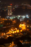 Nattsikt av Kairo från Kairotorn Royaltyfri Bild