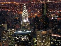 Nattsikt av New York City Royaltyfri Bild