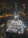 Nattsikt av Shangai Arkivfoton