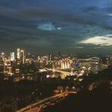 Nattsikt i Chongqing royaltyfria foton