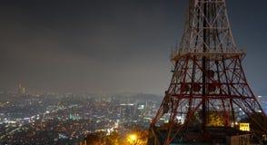 Nattsikt, Namsan, Seoul Royaltyfria Foton