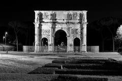 Nattsikt, Rome Costantine Royaltyfria Foton