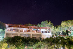 Nattsikt till hotellet Turkiet Arkivfoton