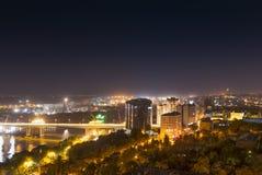 Nattsikter av Rostov-On-Don, Ryssland fotografering för bildbyråer