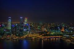 nattsingapore horisont Fotografering för Bildbyråer